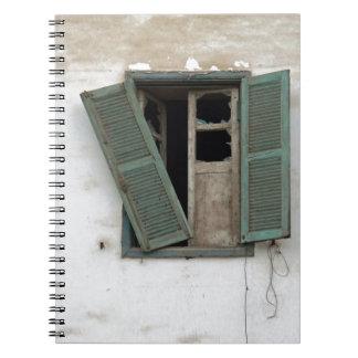 ventana vieja libretas espirales
