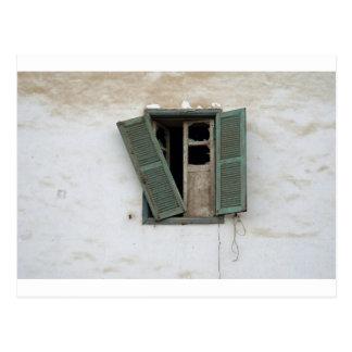 ventana vieja tarjeta postal