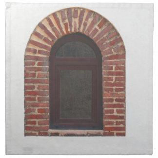 ventana y pared servilletas de papel