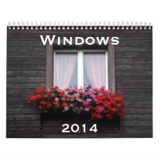 ventanas 2014 calendario de pared