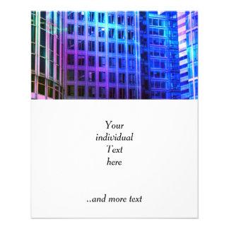 ventanas azules tarjeta publicitaria