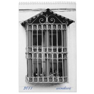 ventanas calendario de pared