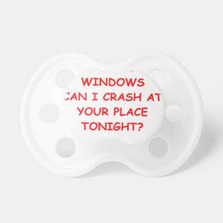 ventanas chupete de bebé