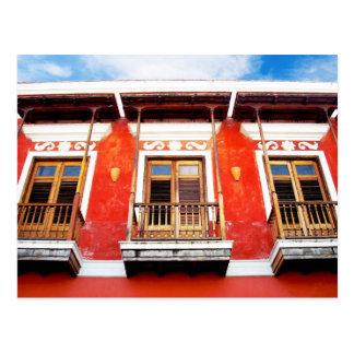 Ventanas coloridas del balcón de San Juan, Puerto Postales