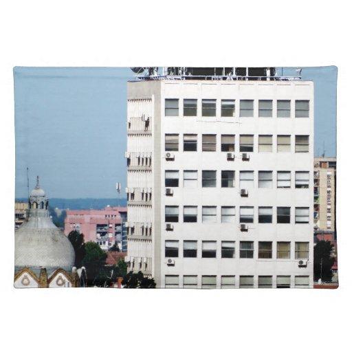 ventanas de la ciudad mantel