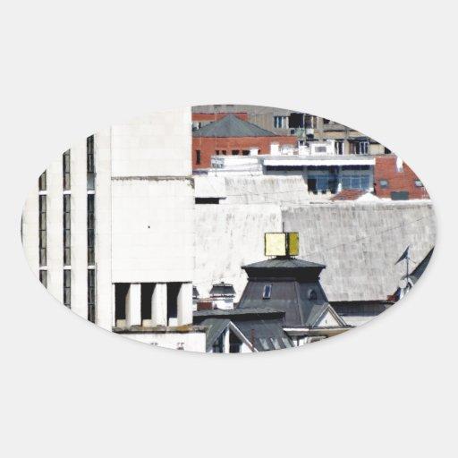 ventanas de la ciudad calcomania ovaladas personalizadas