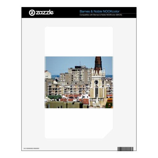 ventanas de la ciudad calcomanía para el NOOK color