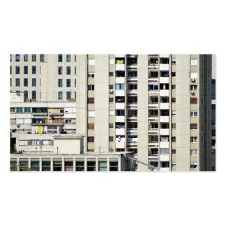 ventanas de la ciudad plantilla de tarjeta personal