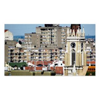 ventanas de la ciudad tarjetas de negocios