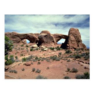 Ventanas del norte y sur, parque nacional de los a tarjeta postal