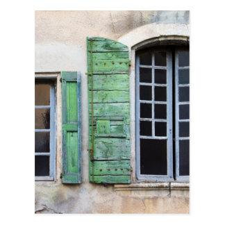 ventanas mediterráneas tarjeta postal