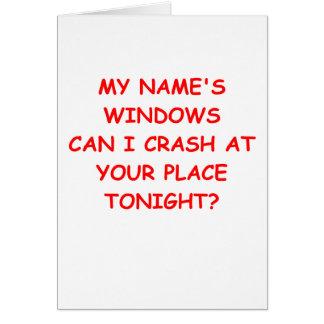 ventanas tarjeta de felicitación