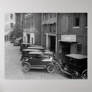 Ventas autos y Service, 1926. Foto del vintage Póster