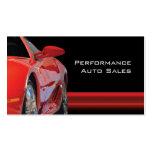 Ventas autos y servicio del alto rendimiento tarjetas de negocios