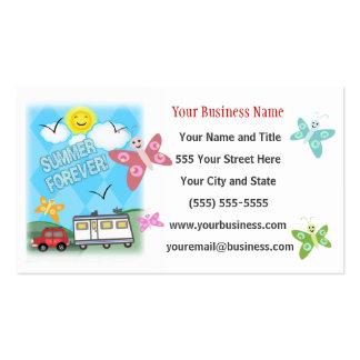 Ventas de encargo de los campines rv del negocio plantillas de tarjeta de negocio