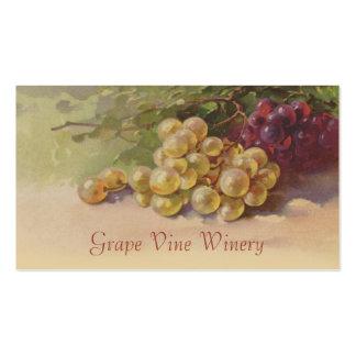 Ventas de la fruta de las uvas rojas y blancas tarjetas de visita