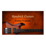 Ventas de la guitarra de las lecciones de la guita tarjeta de visita