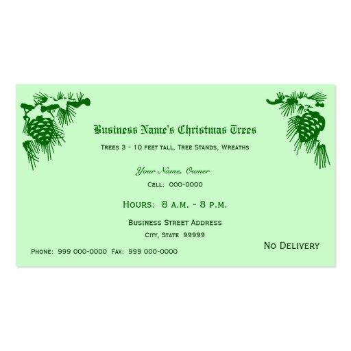 Ventas de los árboles de navidad tarjetas personales