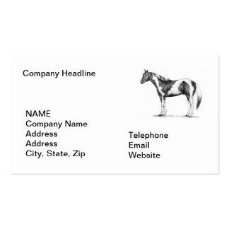 Ventas del caballo plantillas de tarjetas personales