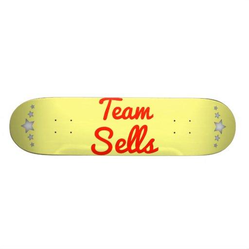 Ventas del equipo skateboard