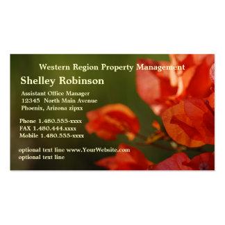 Ventas o flores coloreadas amapola administrativa  tarjeta de visita