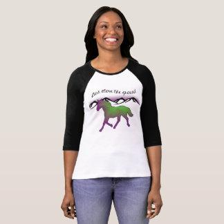 Ventila sobre las señoras de tierra 3/4 camiseta playeras