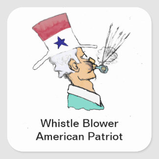 Ventilador del silbido - héroe americano calcomanías cuadradases