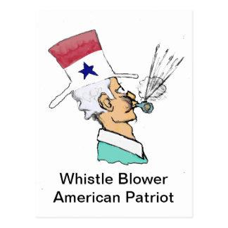 Ventilador del silbido - héroe americano tarjeta postal