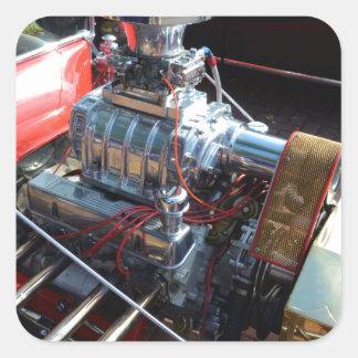 Ventilador V8 Pegatina Cuadrada