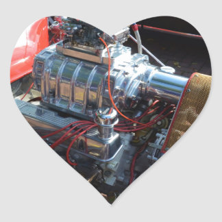 Ventilador V8 Pegatina En Forma De Corazón