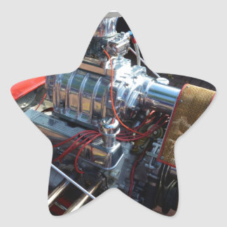 Ventilador V8 Pegatina En Forma De Estrella