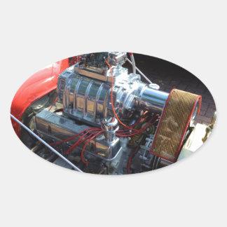 Ventilador V8 Pegatina Ovalada