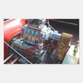 Ventilador V8 Pegatina Rectangular