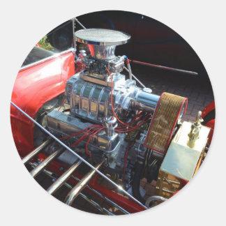 Ventilador V8 Pegatina Redonda