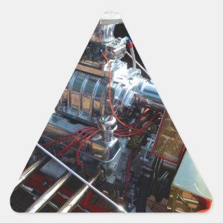 Ventilador V8 Pegatina Triangular