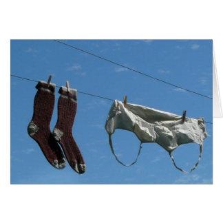 Ventile su lavadero sucio tarjeta de felicitación