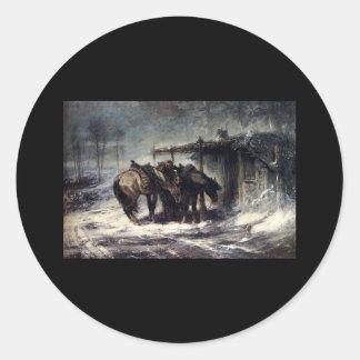 Ventisca de Adolfo Schreyer Wallachian Etiqueta Redonda