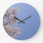 Ventisca de la flor de cerezo (Hanafubuki) Reloj De Pared