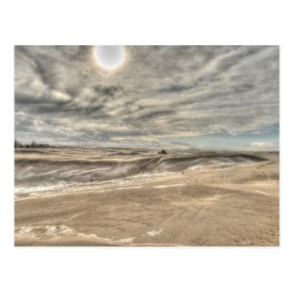 Ventisca en las dunas tarjeta postal