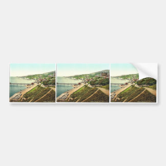 Ventnor, from East Cliff, Isle of Wight, England r Bumper Stickers