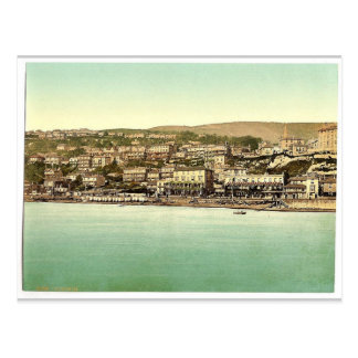Ventnor, from sea, Isle of Wight, England rare Pho Postcard