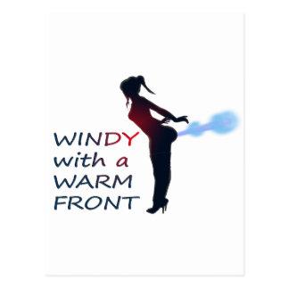 ventoso con un frente caliente postales