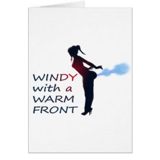 ventoso con un frente caliente tarjeta de felicitación
