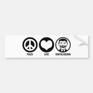 Ventriloquism Bumper Sticker