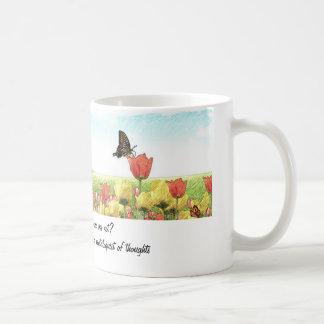 Ventriloquist coffee cup classic white coffee mug