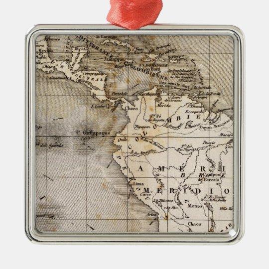 Vents Amerique Metal Ornament