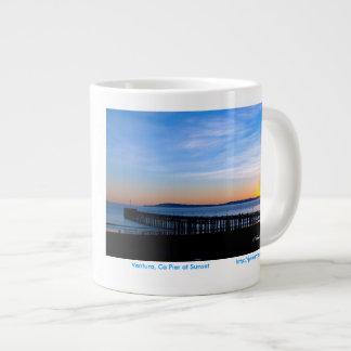 Ventura, Ca Pier Sunset 15 oz Mug Jumbo Mug