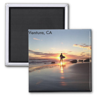 Ventura, CA Surfer's Paradise Sunstet Magnet