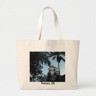 Ventura, California, Mission Large Tote Bag