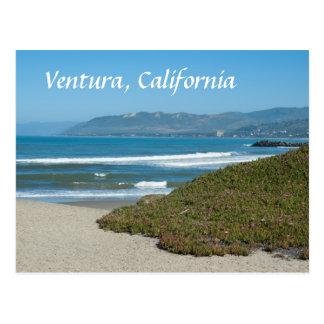 Ventura, California Pacific and Beach Postcard